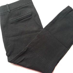 J.CREW Black Ankle Dress Pant Crops Side Zip 8